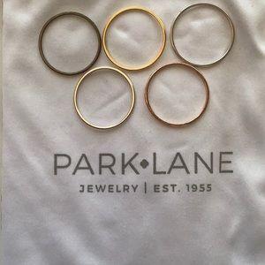 Park Lane 5 Sleek Rings, Mixed Metals, size 9